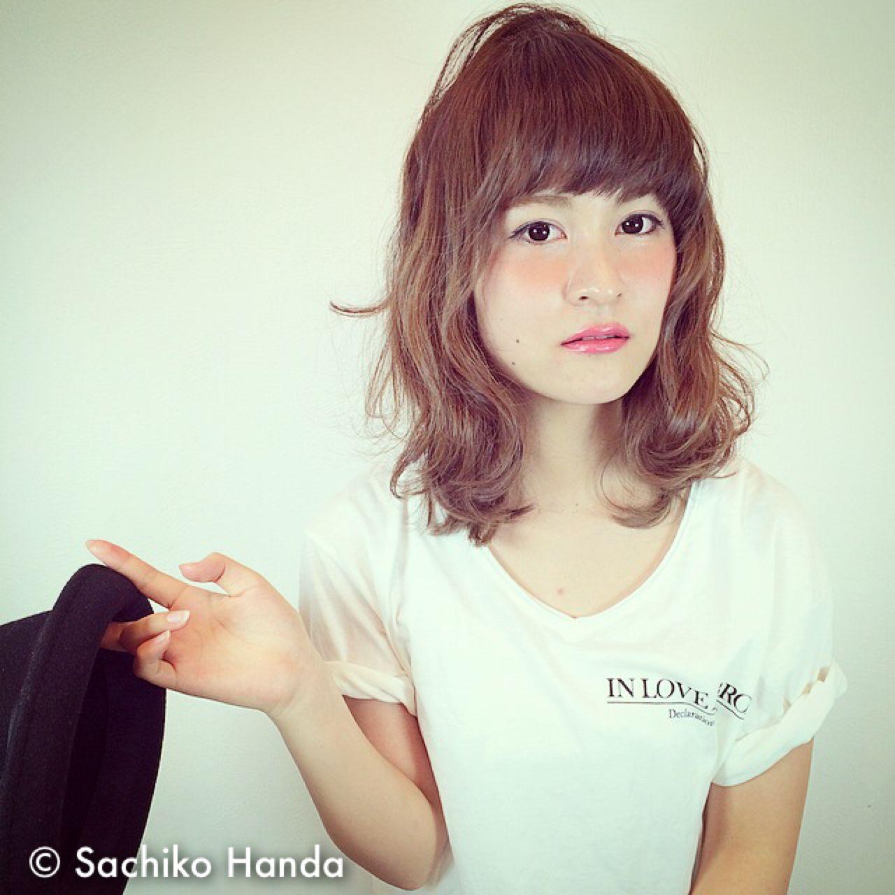 愛され ストレート 大人かわいい モテ髪 ヘアスタイルや髪型の写真・画像 | Sachiko Handa / assort