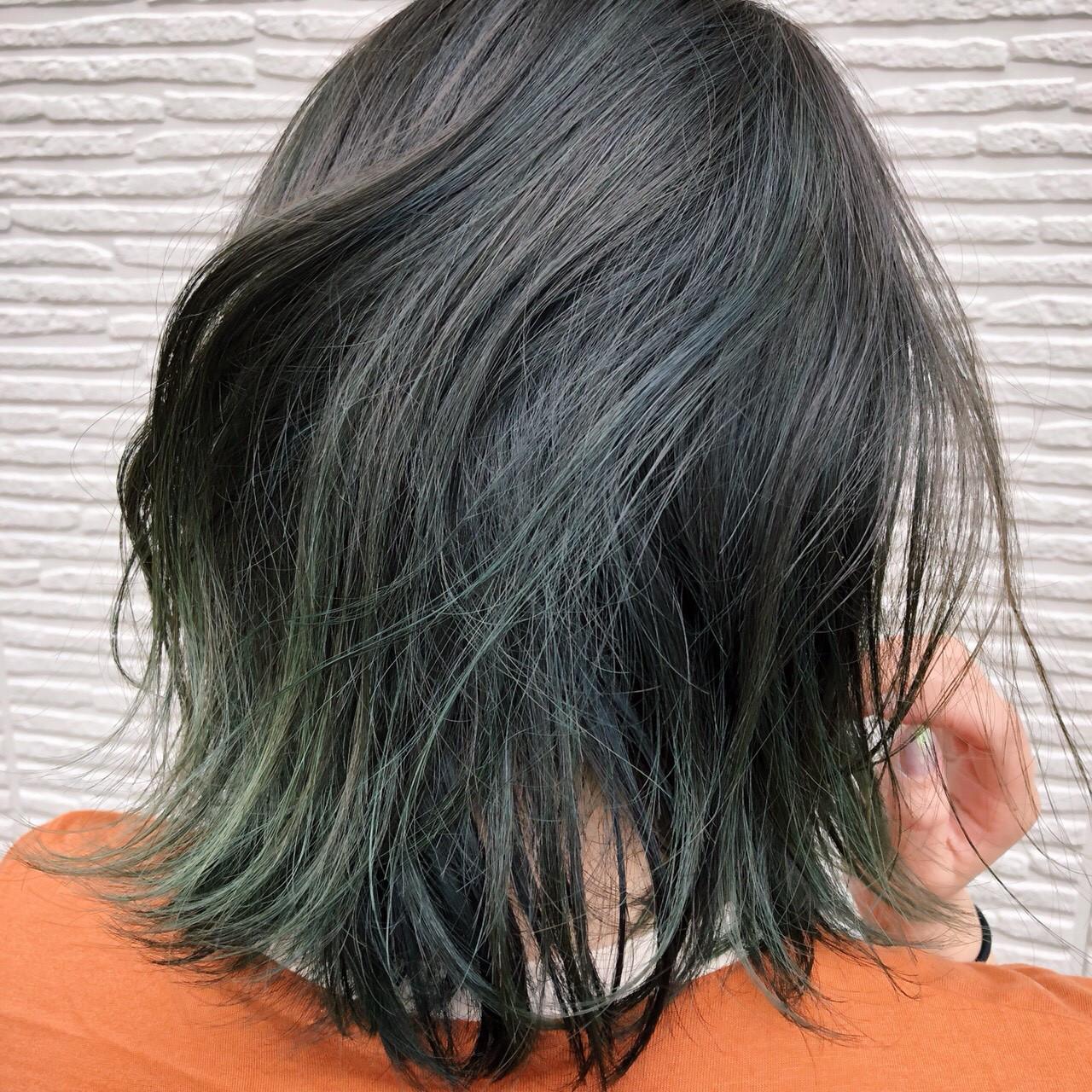 グレー ストリート ロブ ボブ ヘアスタイルや髪型の写真・画像 | 原木翔太 / lufun hair design  ルファン