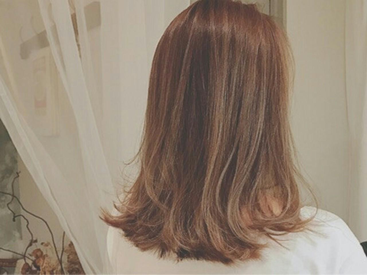 グラデーションカラー モード 外国人風 セミロング ヘアスタイルや髪型の写真・画像 | 浦川由起江 / nanon