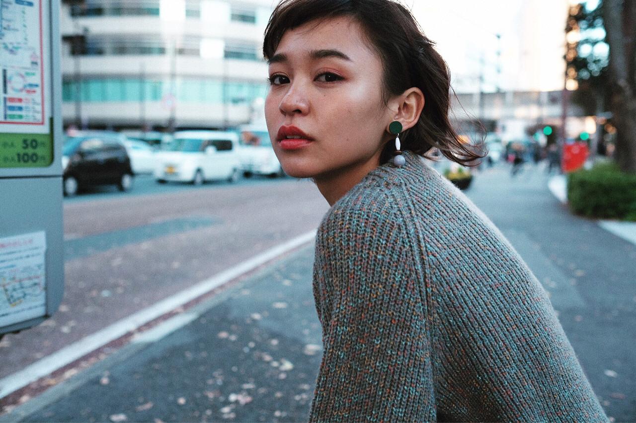 小顔 ショート ストリート ボブヘアスタイルや髪型の写真・画像