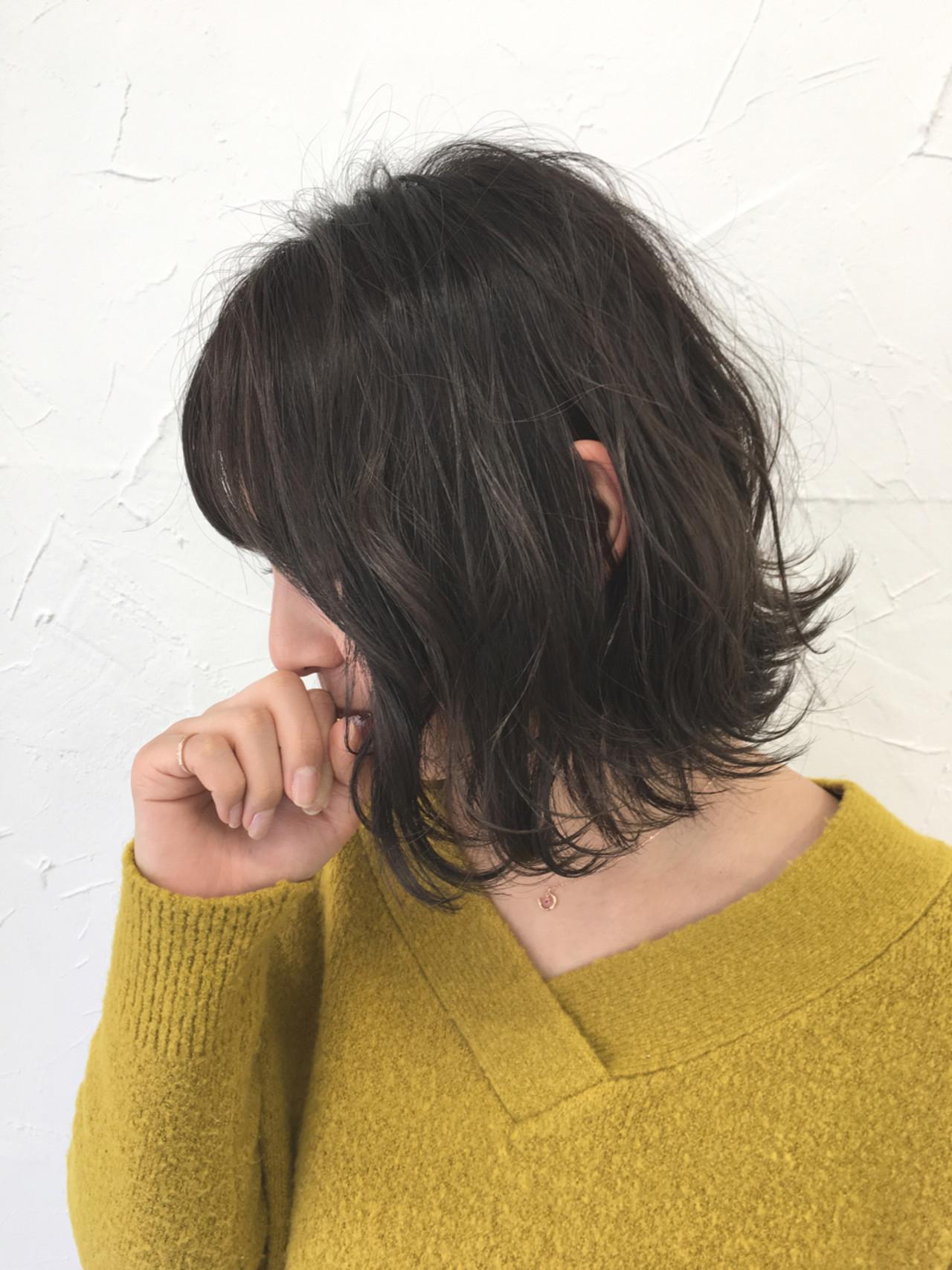 ミルクティー デート ボブ 色気 ヘアスタイルや髪型の写真・画像   田中晋也 / prize(プライズ)表参道店