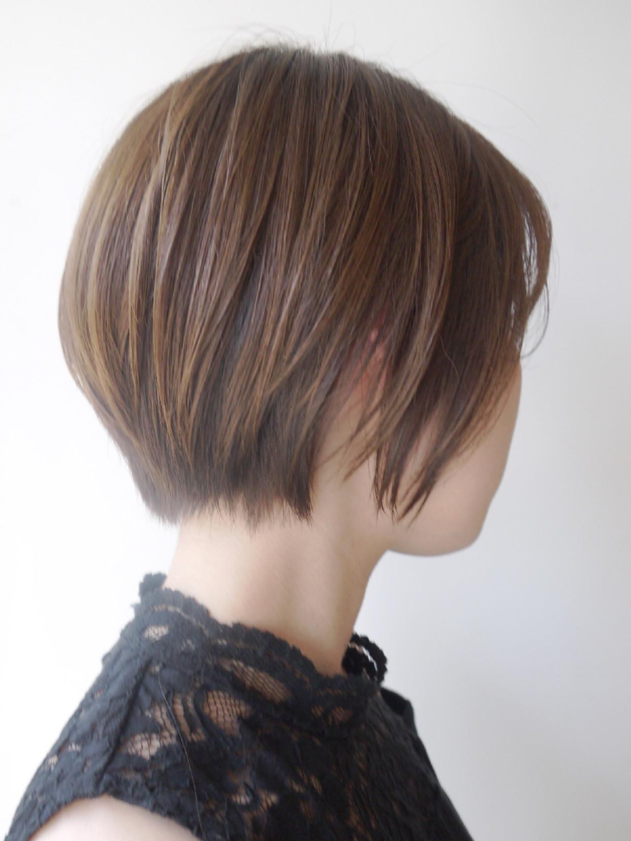 ショート 似合わせ 小顔 コンサバヘアスタイルや髪型の写真・画像