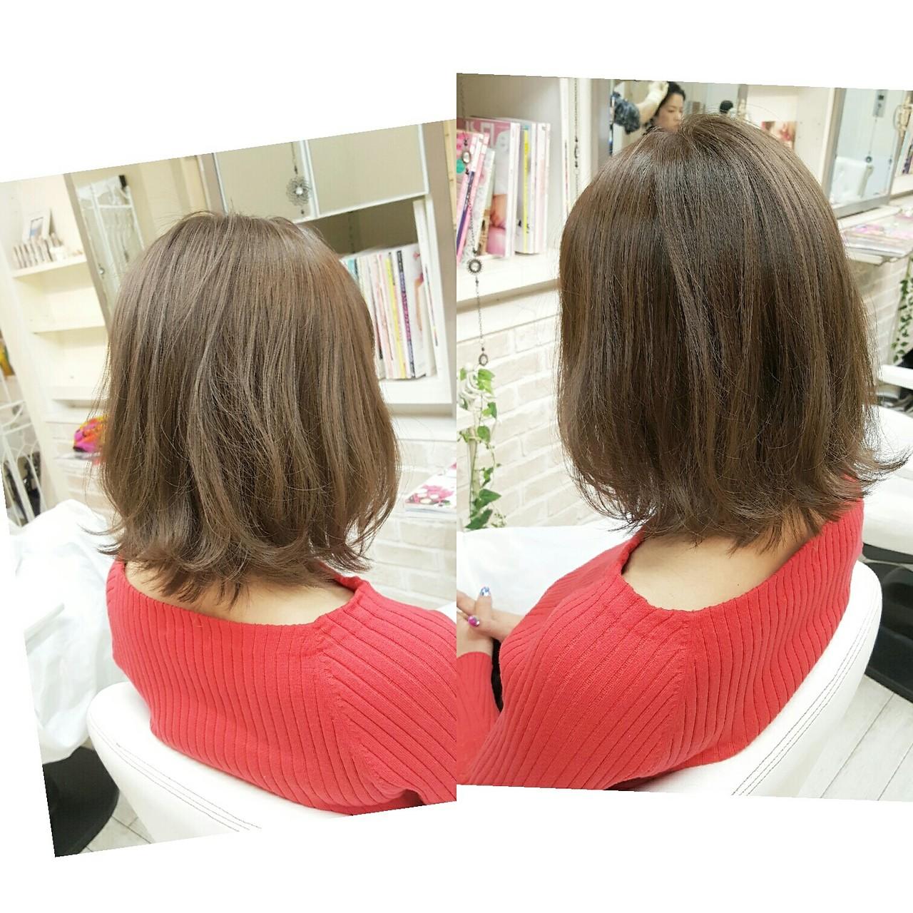 ナチュラル リラックス 外国人風 外ハネ ヘアスタイルや髪型の写真・画像   Naoko Miura / avant