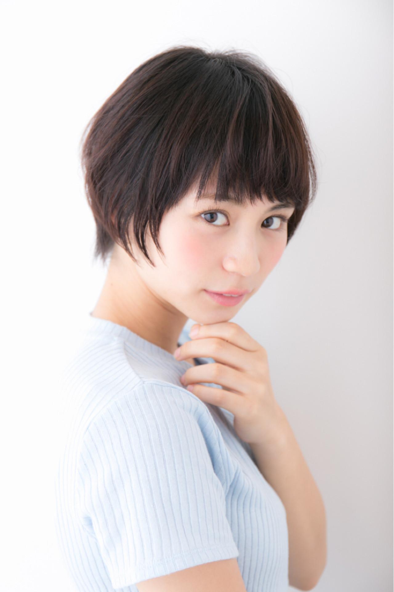 アラサー女性必見?大人のための黒髪ショート Hiromu Haneda