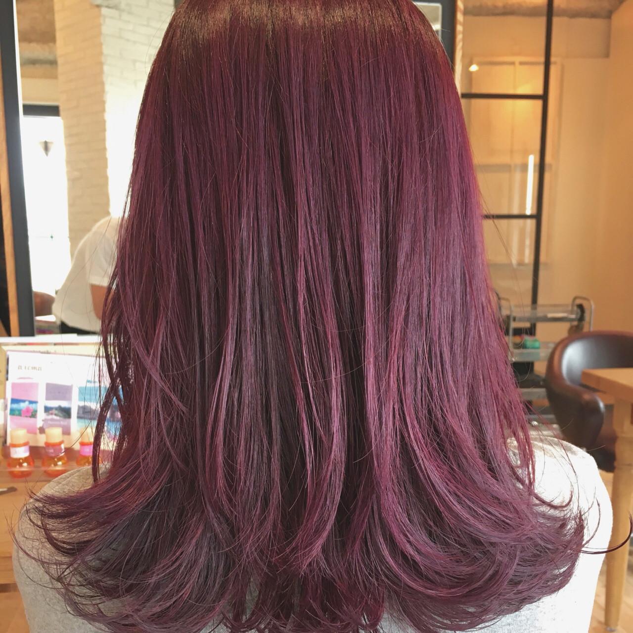 ミディアム ガーリー ハイライト イルミナカラー ヘアスタイルや髪型の写真・画像 | 須賀 ユウスケ / Rizm