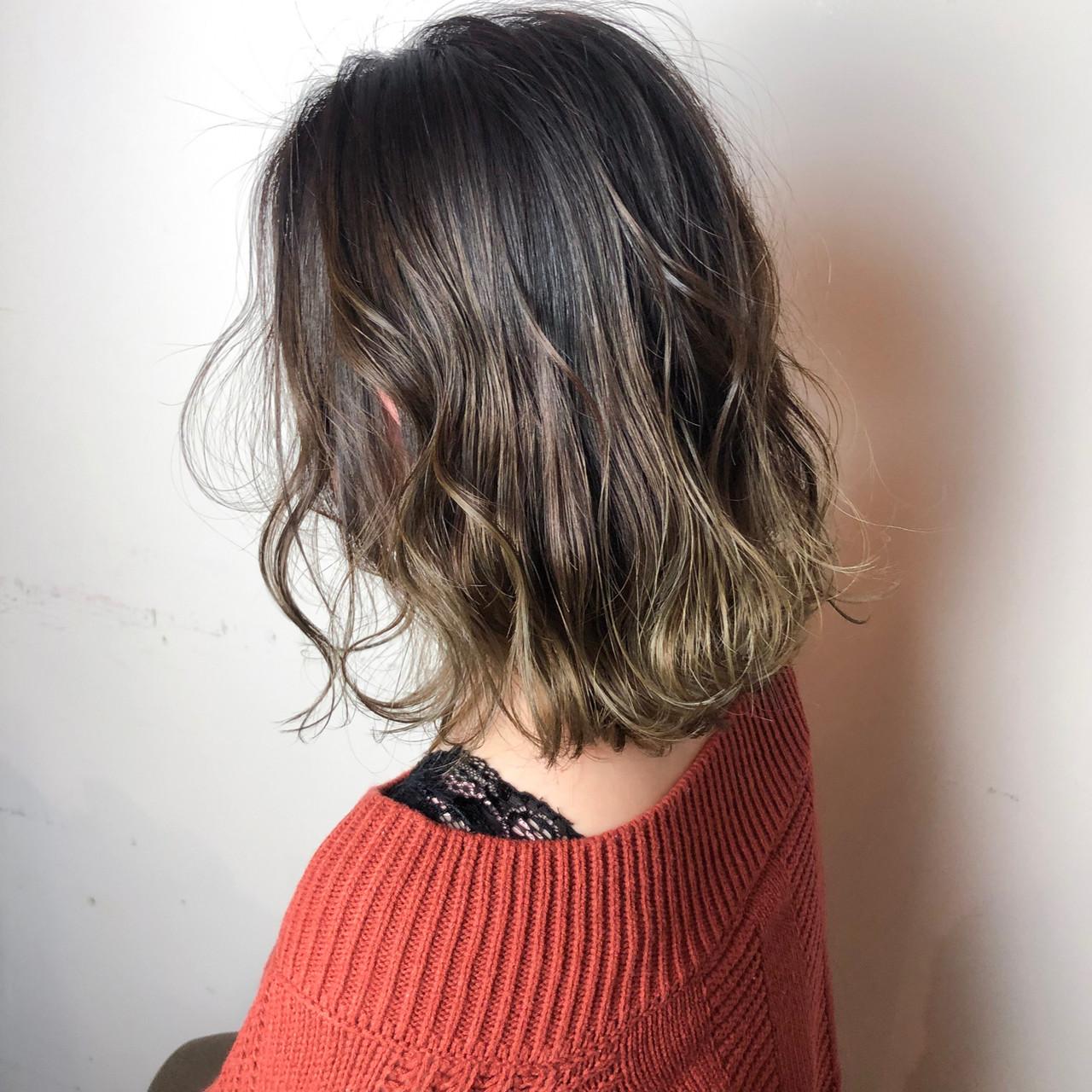 ハイライト ゆるふわ ナチュラル ボブ ヘアスタイルや髪型の写真・画像   山口 卓哉/earth北浦和店 / Hair&Make EARTH北浦和店