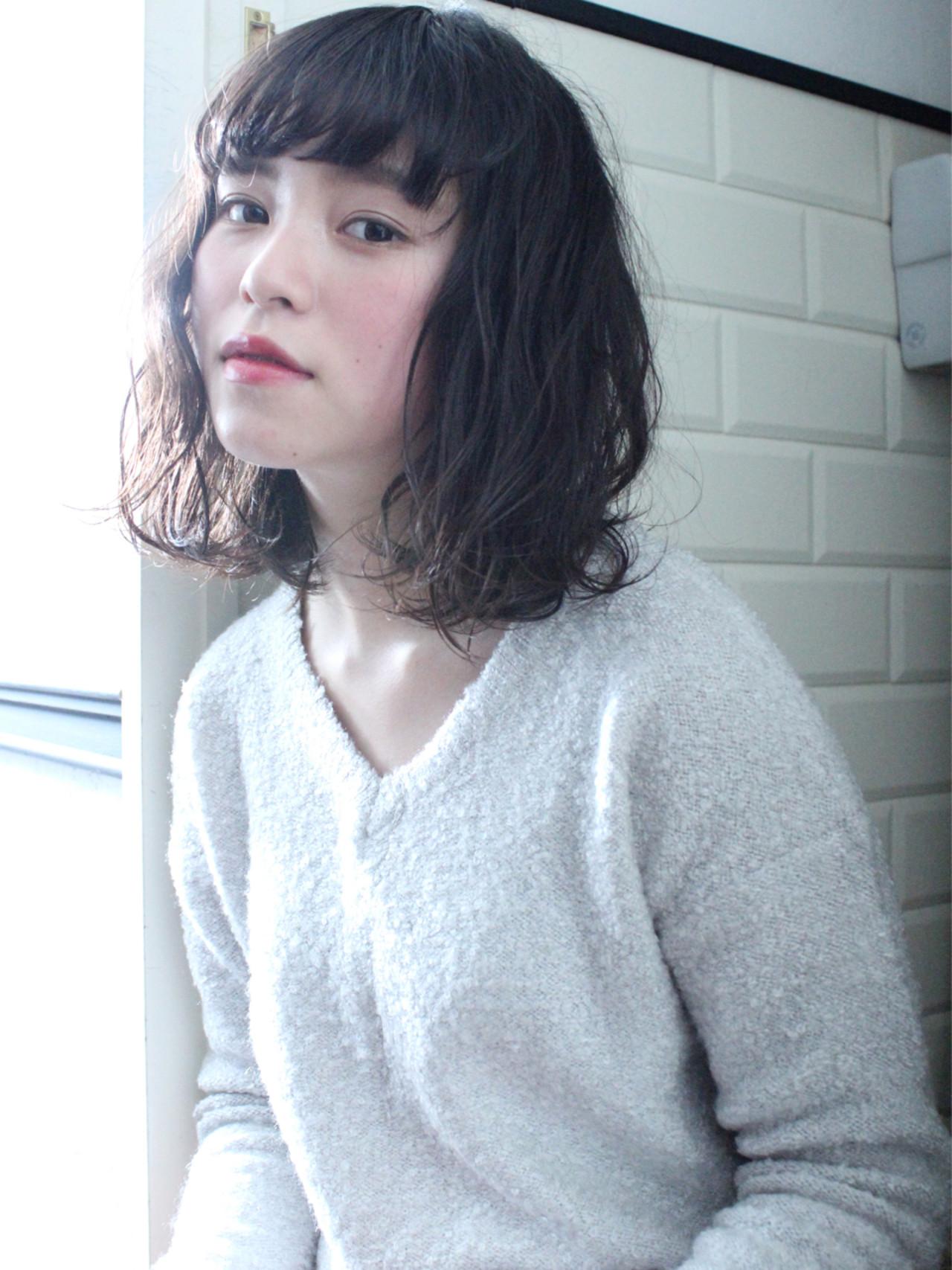 アッシュ 小顔 ナチュラル ニュアンス ヘアスタイルや髪型の写真・画像 | 上田智久 / ooit 福岡 天神 / ooit