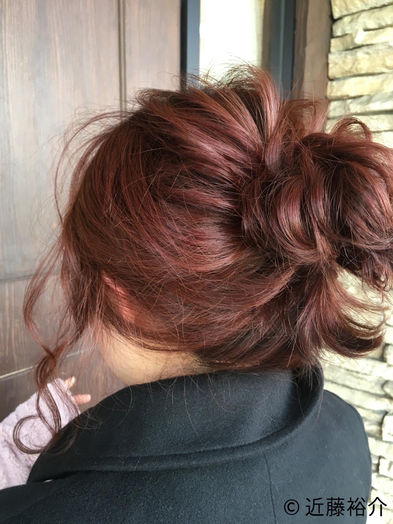 ゆるふわ フェミニン ショート ヘアアレンジヘアスタイルや髪型の写真・画像