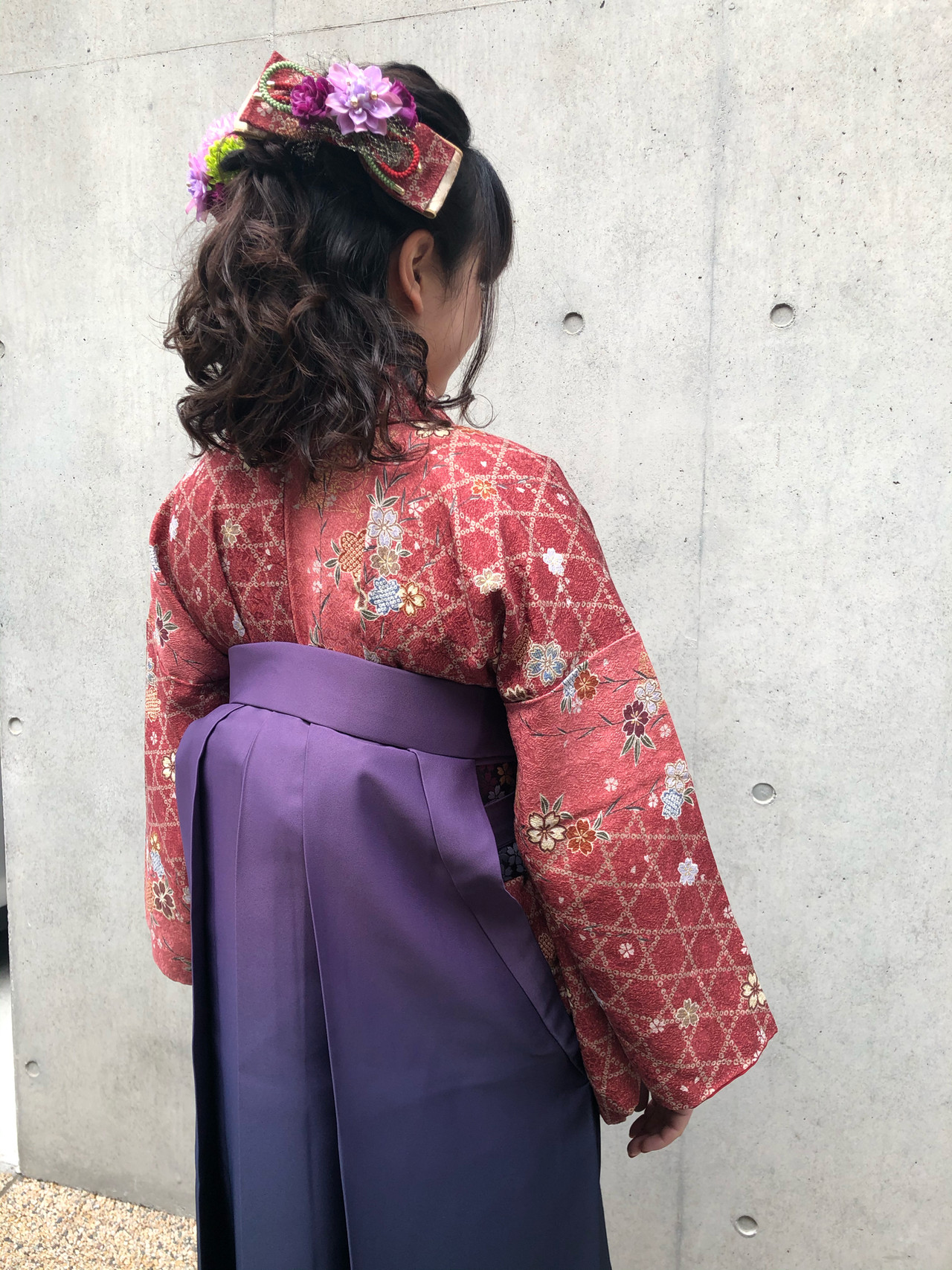 ハーフアップ 着物 ヘアアレンジ 卒業式ヘアスタイルや髪型の写真・画像