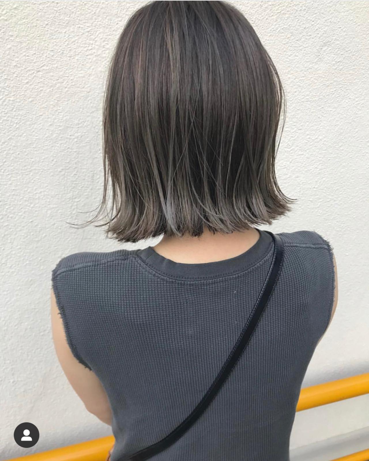 ミニボブ ショートボブ 切りっぱなしボブ ショートヘアヘアスタイルや髪型の写真・画像