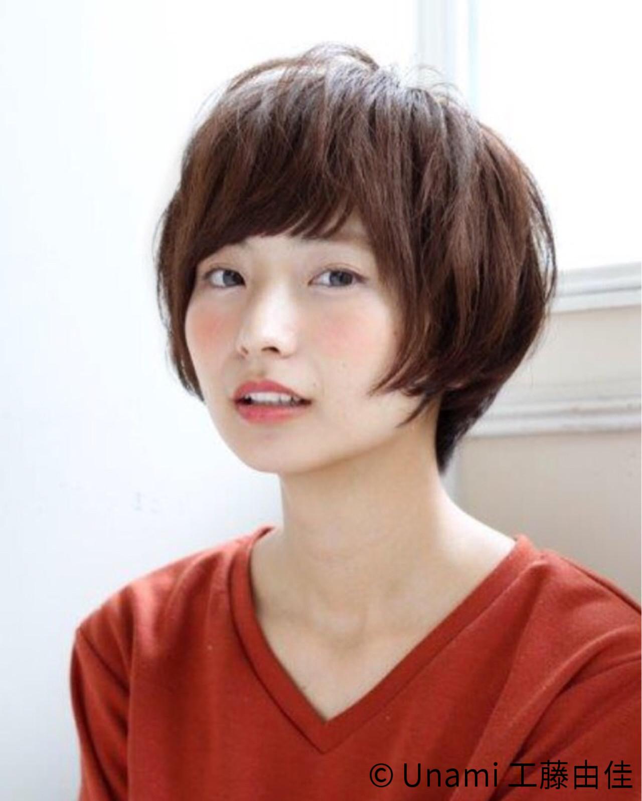 ナチュラル ショート ショートボブ 田中美保ヘアスタイルや髪型の写真・画像