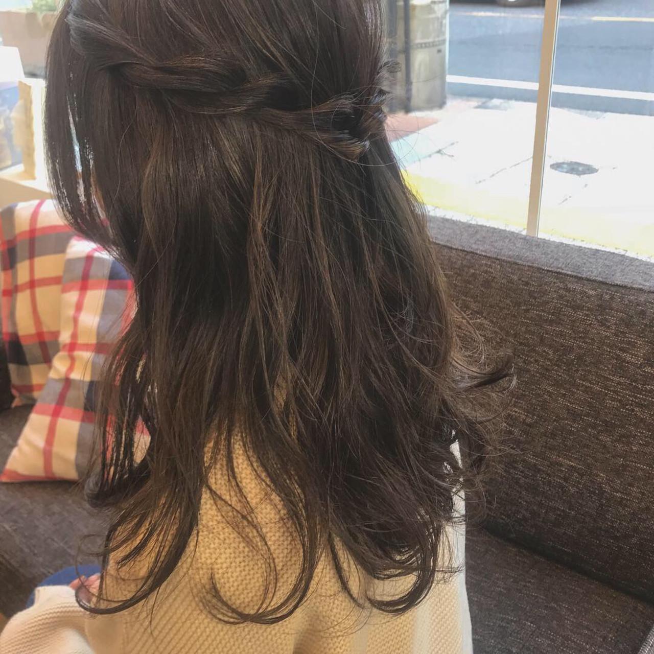 ロング デート ガーリー 三つ編み ヘアスタイルや髪型の写真・画像 | 鳥井舞子 / Lilou by Frames 川口店