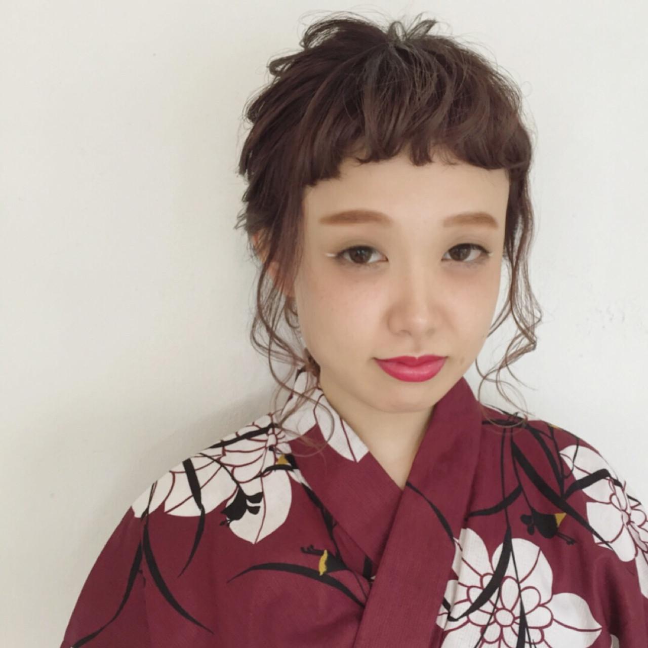 色気 花火大会 涼しげ ヘアアレンジ ヘアスタイルや髪型の写真・画像 | maco / ange
