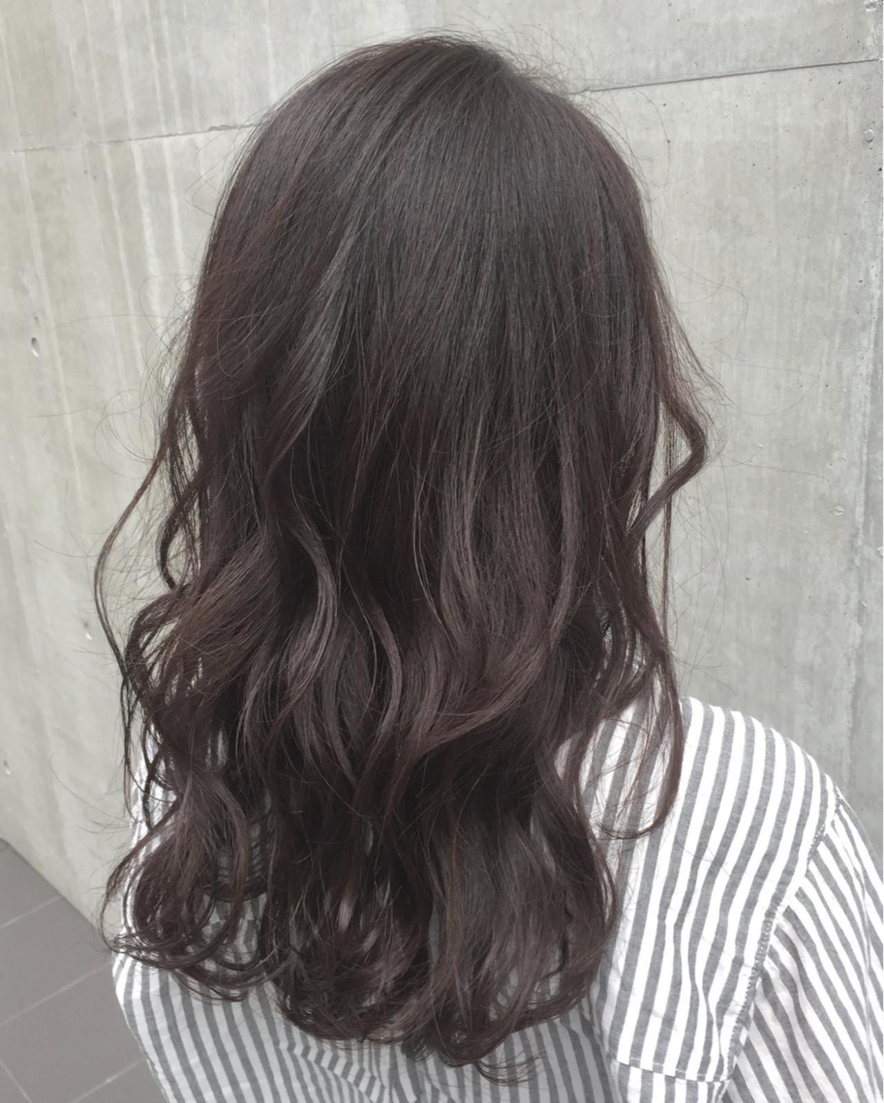 暗髪 パーマ セミロング ミディアム ヘアスタイルや髪型の写真・画像 | 前田賢太 HOULe 表参道 / HOULe