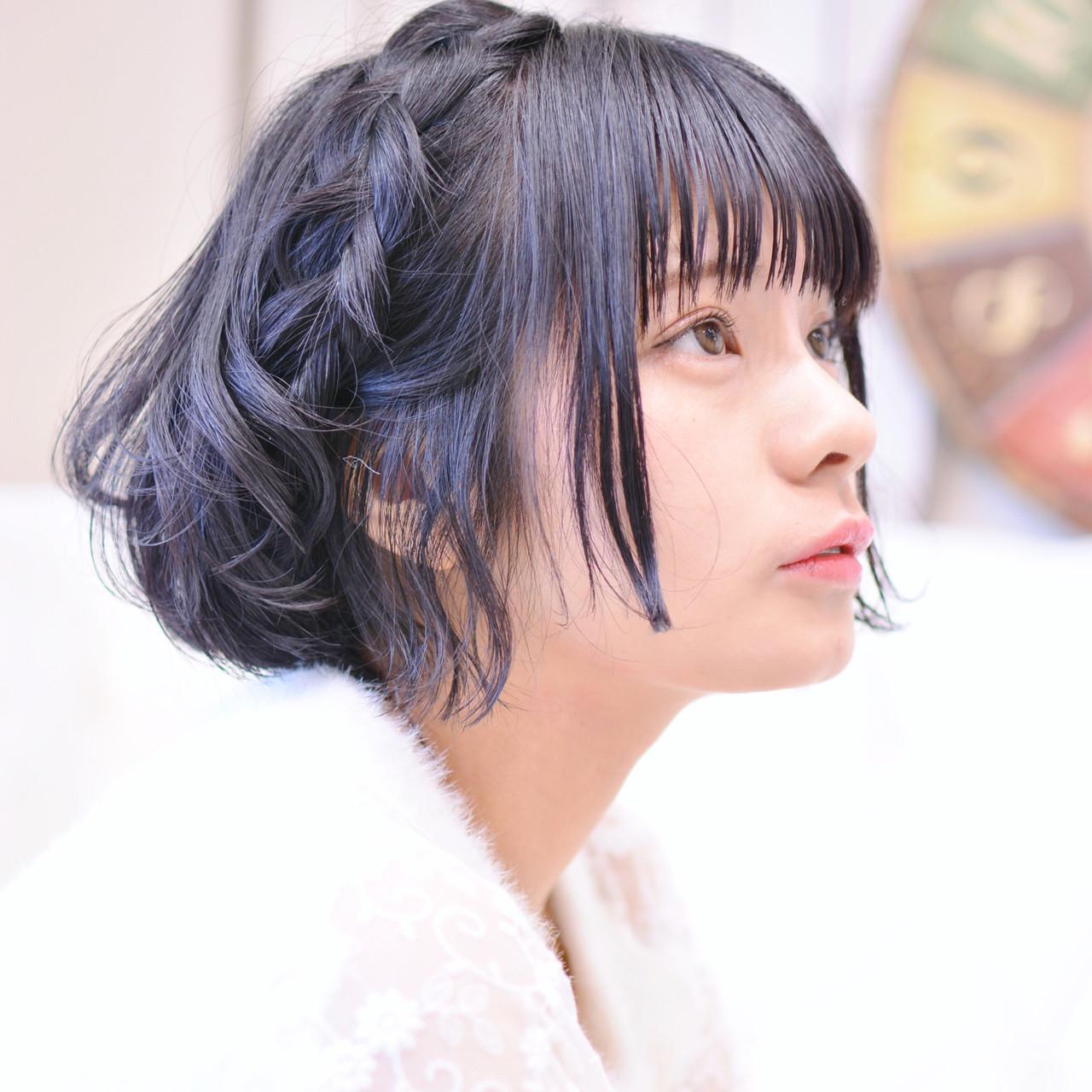 簡単ヘアアレンジ ヘアアレンジ 黒髪ショート 黒髪 ヘアスタイルや髪型の写真・画像 | Shiko Kajihara / メイズ
