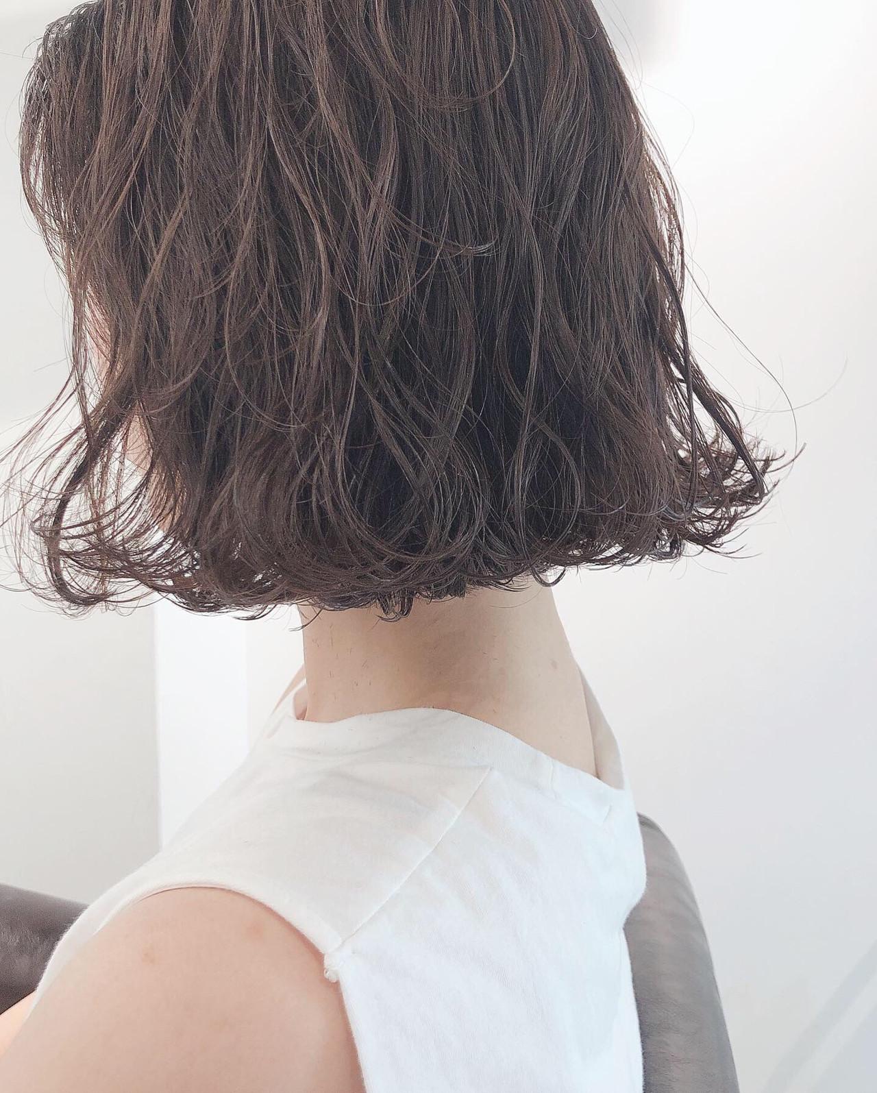 簡単ヘアアレンジ ボブ ミルクティーベージュ 外ハネボブ ヘアスタイルや髪型の写真・画像 | 上田智久 / ooit 福岡 天神 / ooit