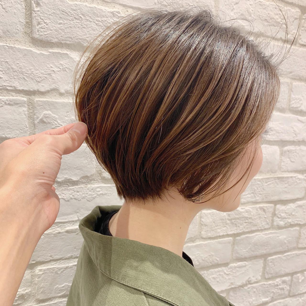 ナチュラル パーマ アウトドア 簡単ヘアアレンジ ヘアスタイルや髪型の写真・画像 | ショートボブの匠【 山内大成 】『i.hair』 / 『 i. 』 omotesando