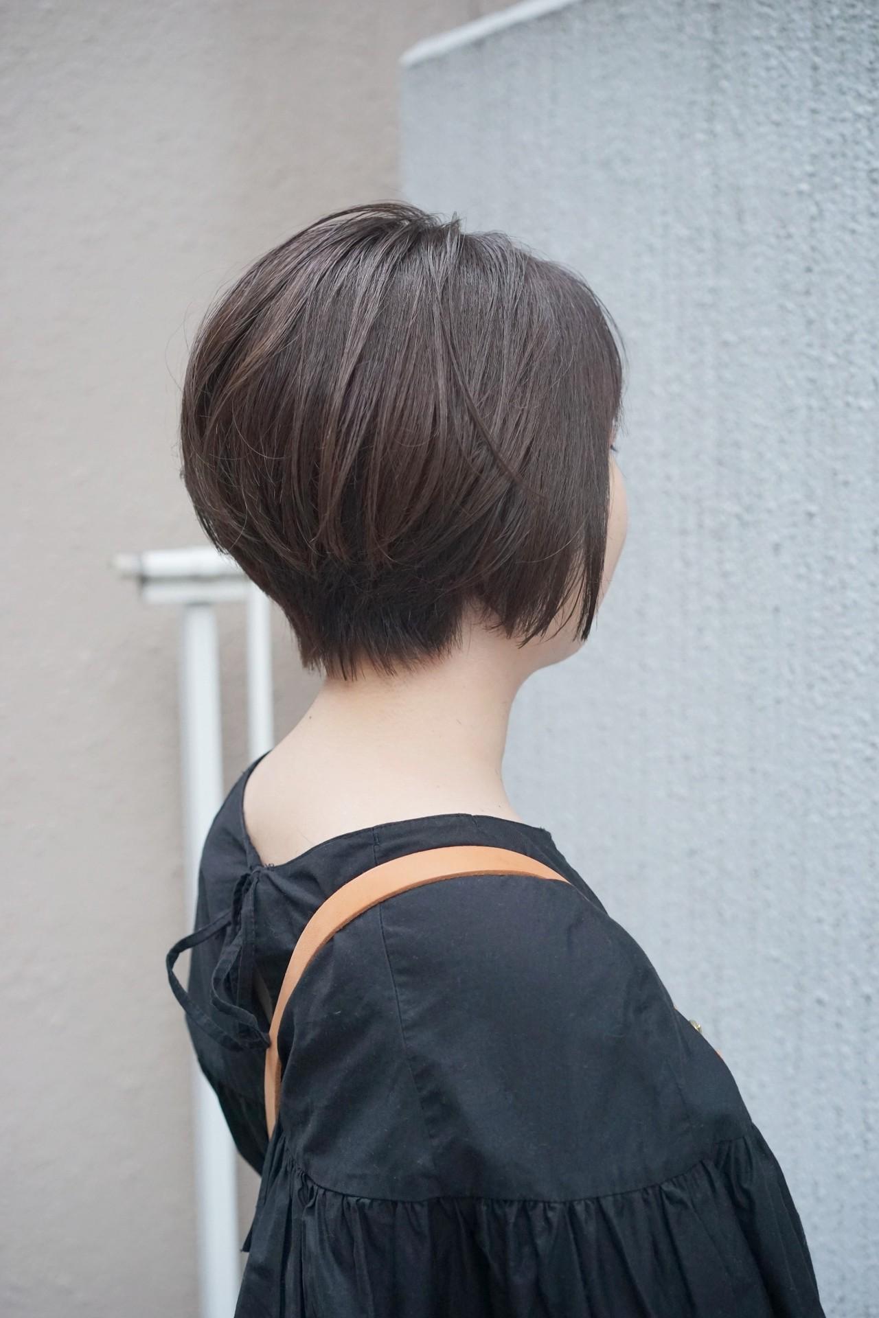 前下がり 大人ヘアスタイル ショート 美シルエット ヘアスタイルや髪型の写真・画像 | 菊地 博之 / ジュノ