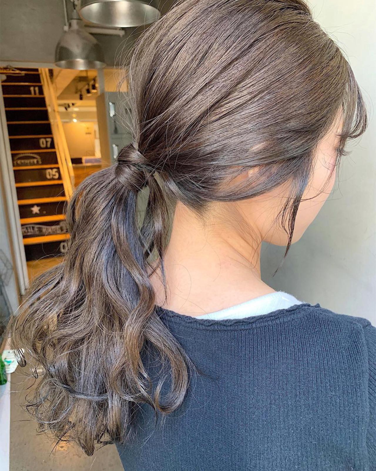 ナチュラル デート ロング 簡単ヘアアレンジ ヘアスタイルや髪型の写真・画像   MORNING.miya/@1031miya / HAIR MORNING.