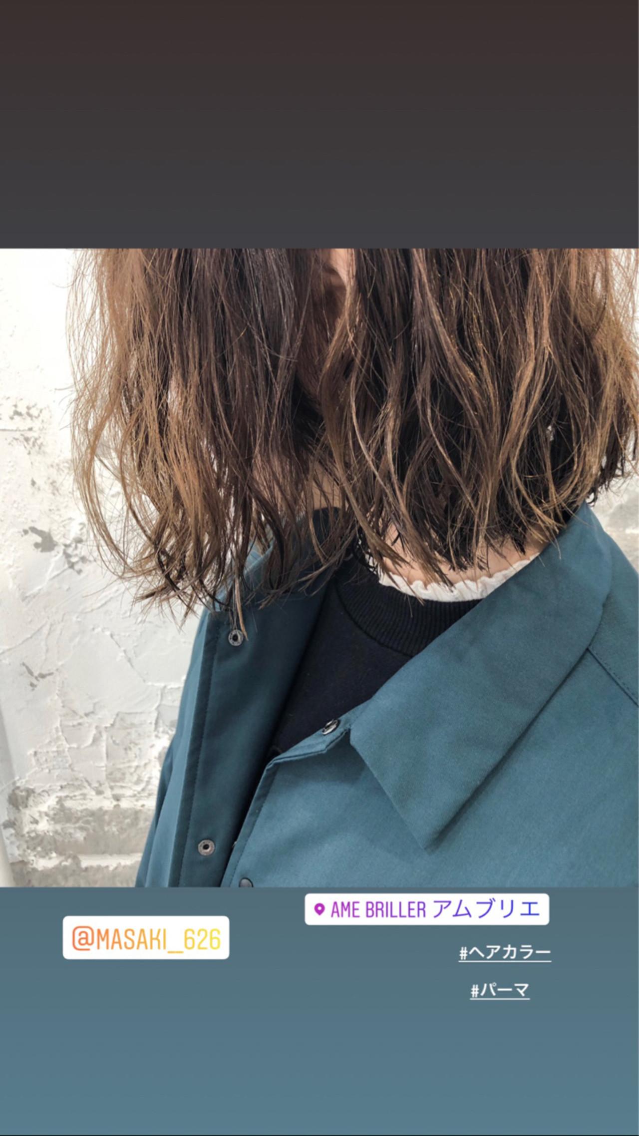 ゆるふわ 外国人風 ウェーブ パーマ ヘアスタイルや髪型の写真・画像   篠田 雅樹 / Ame briller 【アムブリエ】