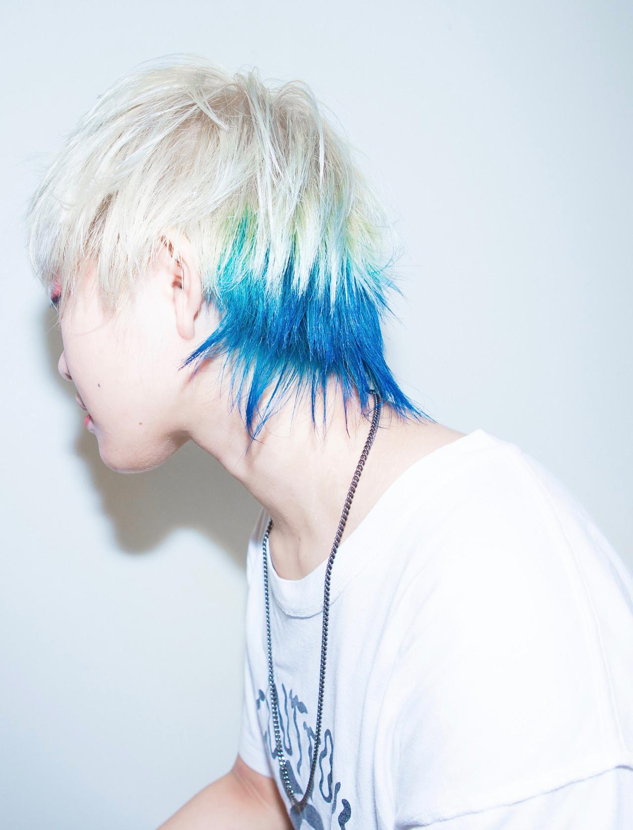 ブリーチオンカラー ショート ダブルブリーチ ホワイトブリーチ ヘアスタイルや髪型の写真・画像   内田 一也 / hair/nail space a:le