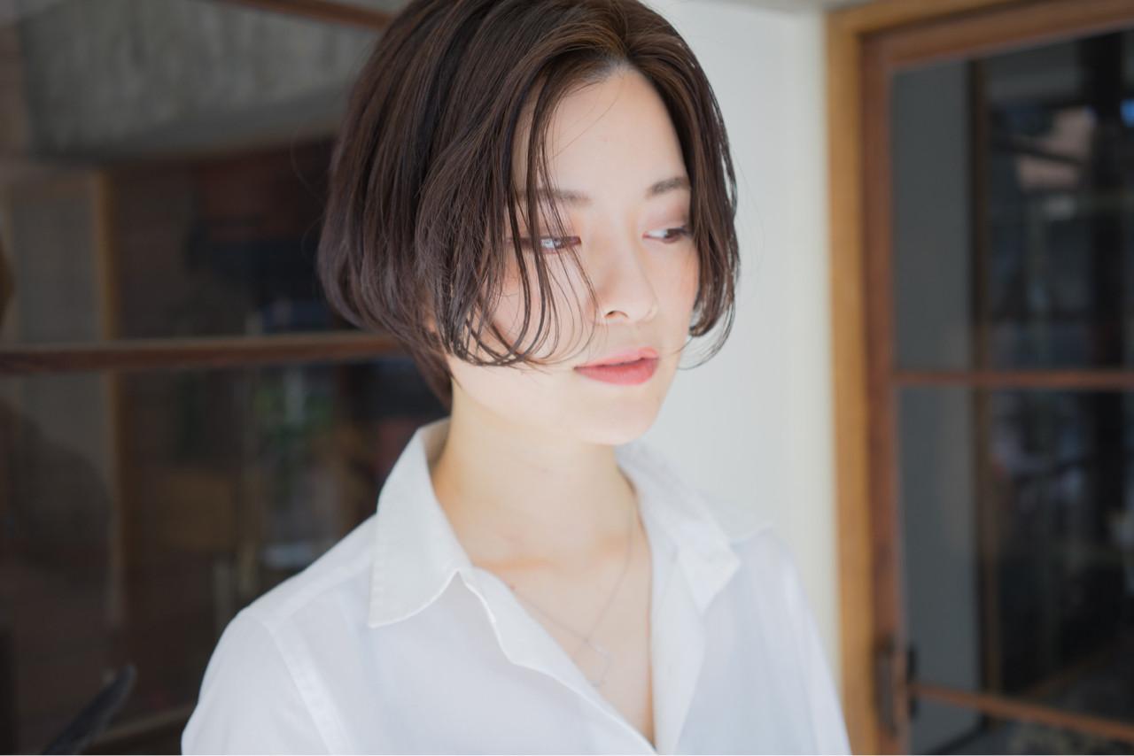 色気 抜け感 ボブ モード ヘアスタイルや髪型の写真・画像 | 祖父江基志 / NOESALON