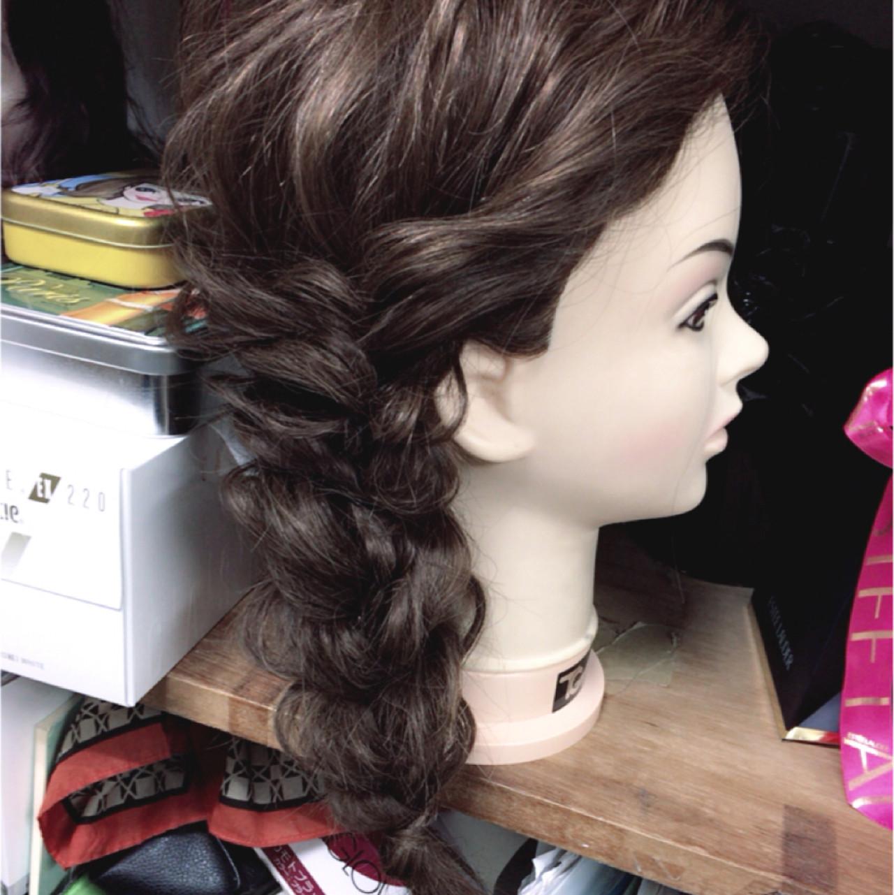 フェミニン 結婚式 編み込み ショート ヘアスタイルや髪型の写真・画像 | 川田 舞 / claude MONET 吉祥寺店