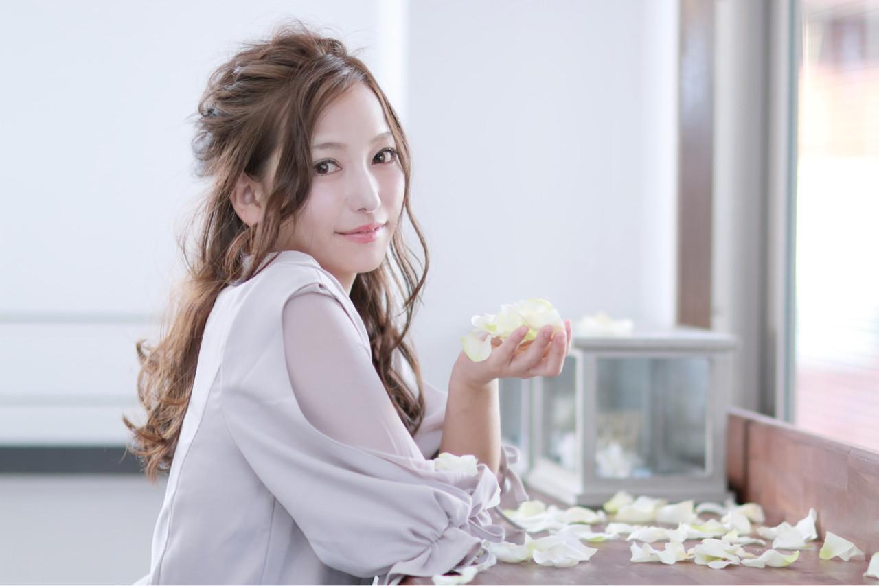 大人かわいい セミロング 成人式 上品 ヘアスタイルや髪型の写真・画像   田村ジュン / FLAVIA