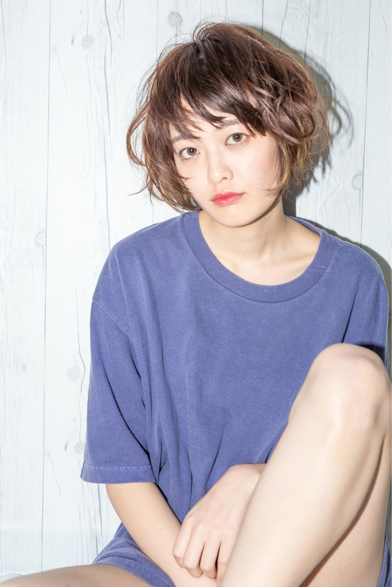 くせ毛風 ナチュラル 小顔 ニュアンス ヘアスタイルや髪型の写真・画像 | Fringe 染谷正 / Fringe Hair Salon