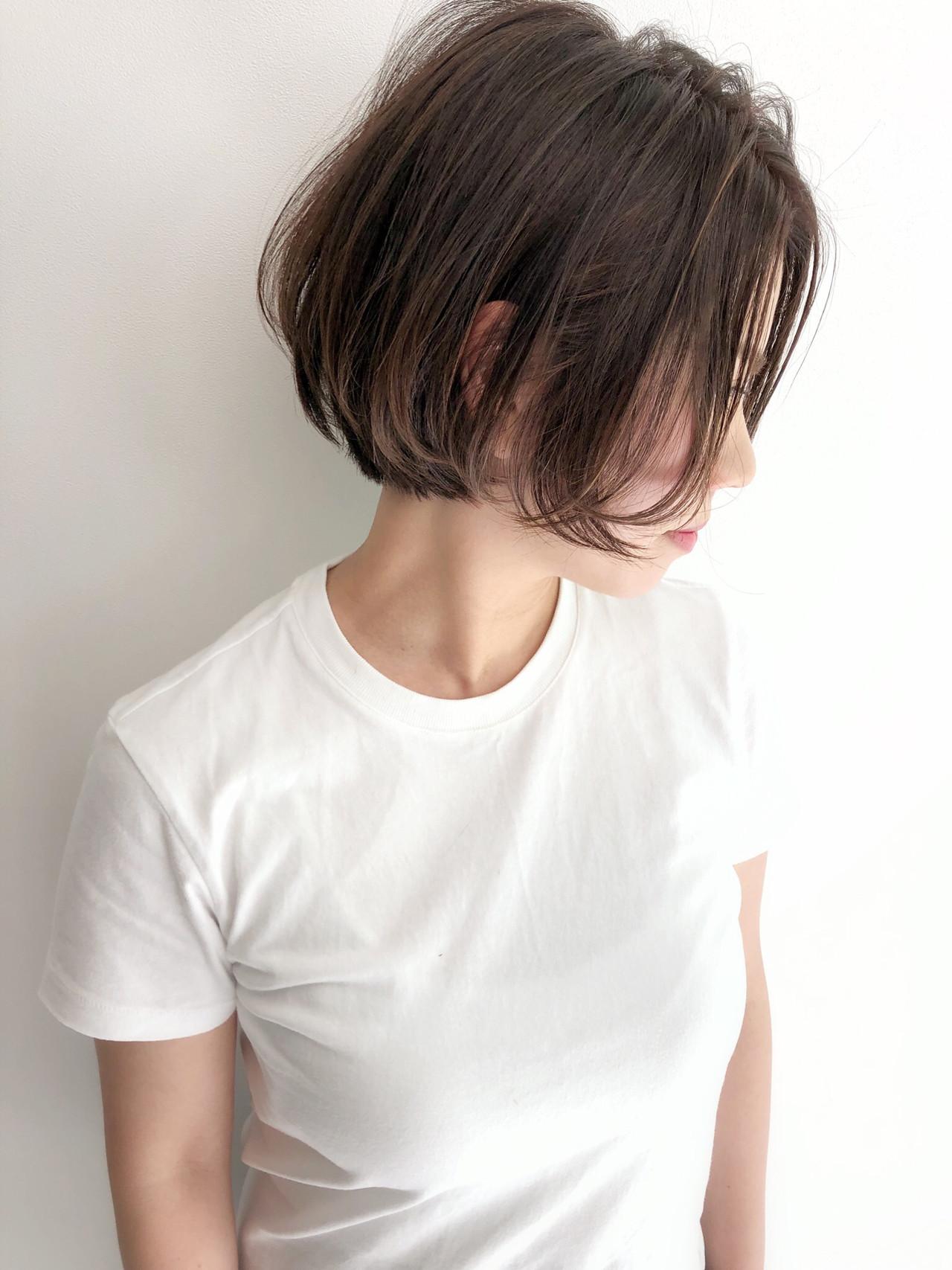 ミニボブ ボブ ナチュラル ボブヘアーヘアスタイルや髪型の写真・画像