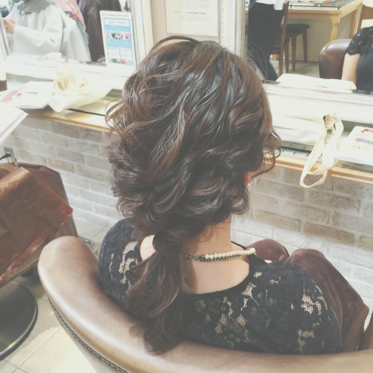 まとめ髪 ショート 編み込み ゆるふわ ヘアスタイルや髪型の写真・画像 | ヤマキタ トシキ Neolive / Neolive CiroL.