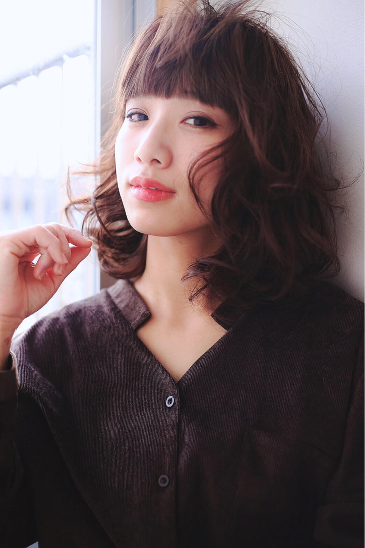 大人かわいい コンサバ 小顔 こなれ感 ヘアスタイルや髪型の写真・画像 | Miki /
