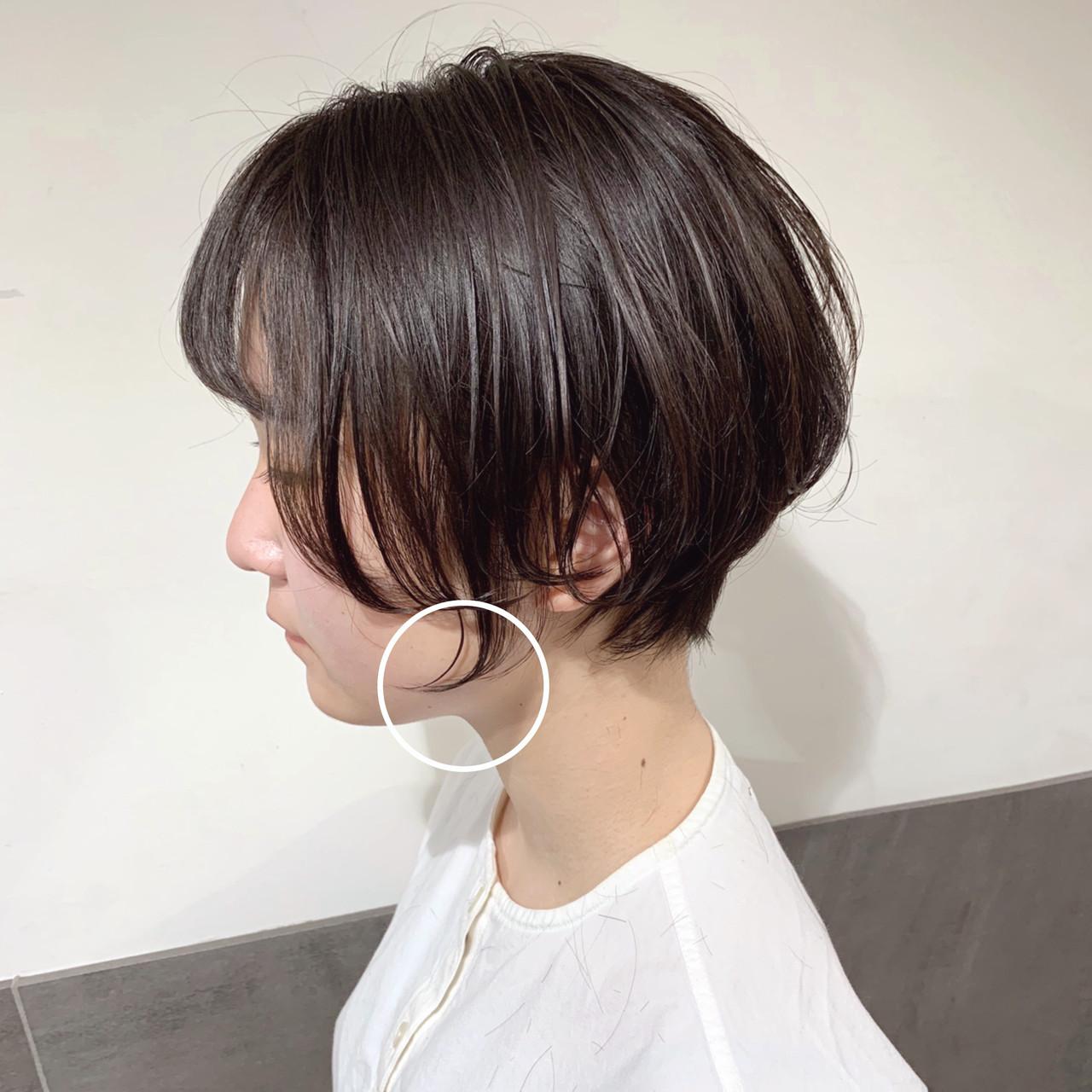 ナチュラル 小顔ショート ベリーショート ショートヘア ヘアスタイルや髪型の写真・画像 | オカモト ナツキ/ショートヘア / Neolive susu