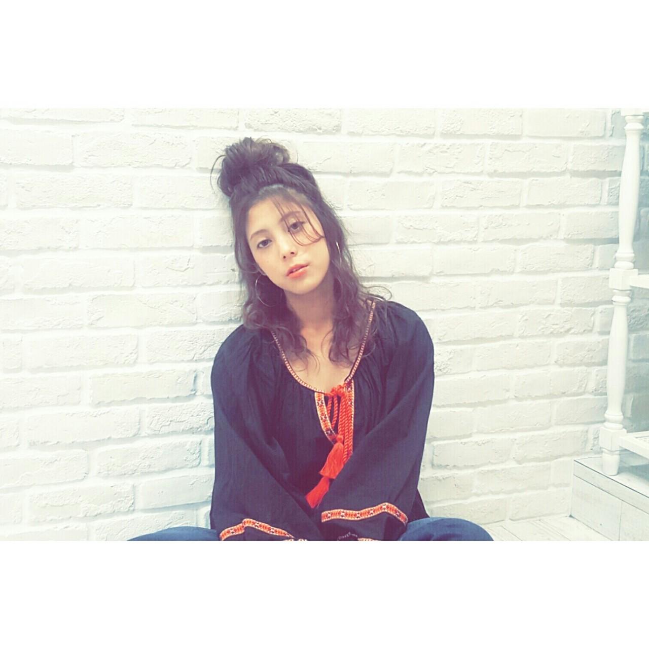 セミロング ショート ヘアアレンジ 簡単ヘアアレンジ ヘアスタイルや髪型の写真・画像 | Naoko Miura / avant