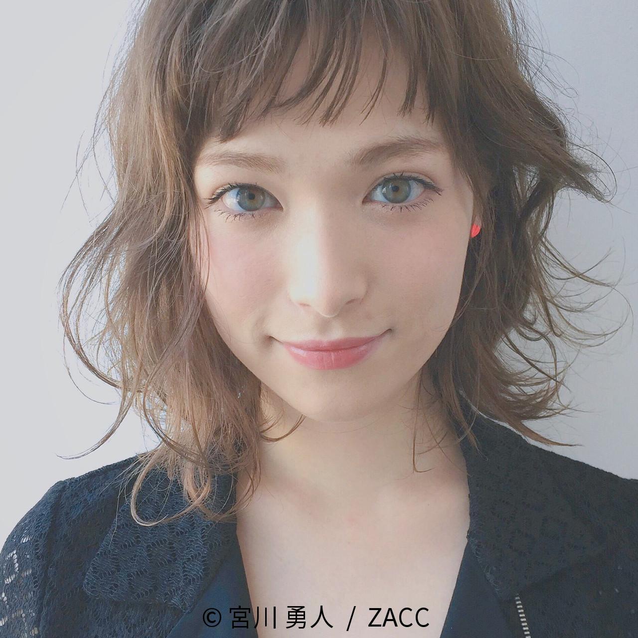 ストリート 前髪あり ハイライト 外国人風 ヘアスタイルや髪型の写真・画像 | 宮川 勇人 / ZACC / ZACC  AO