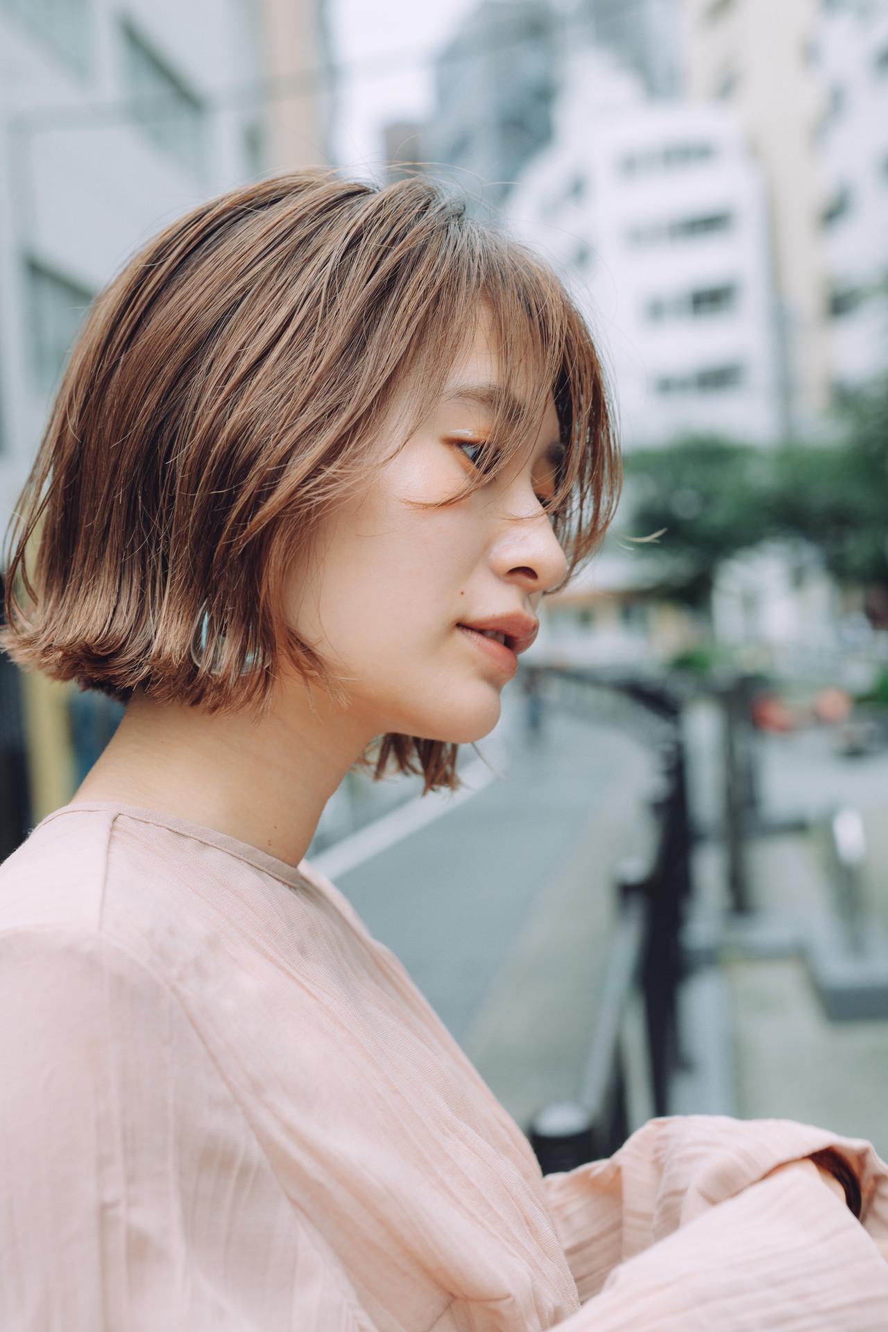 ナチュラル パーマ モテボブ 外ハネボブ ヘアスタイルや髪型の写真・画像 | 児玉善央 / GARDEN harajuku