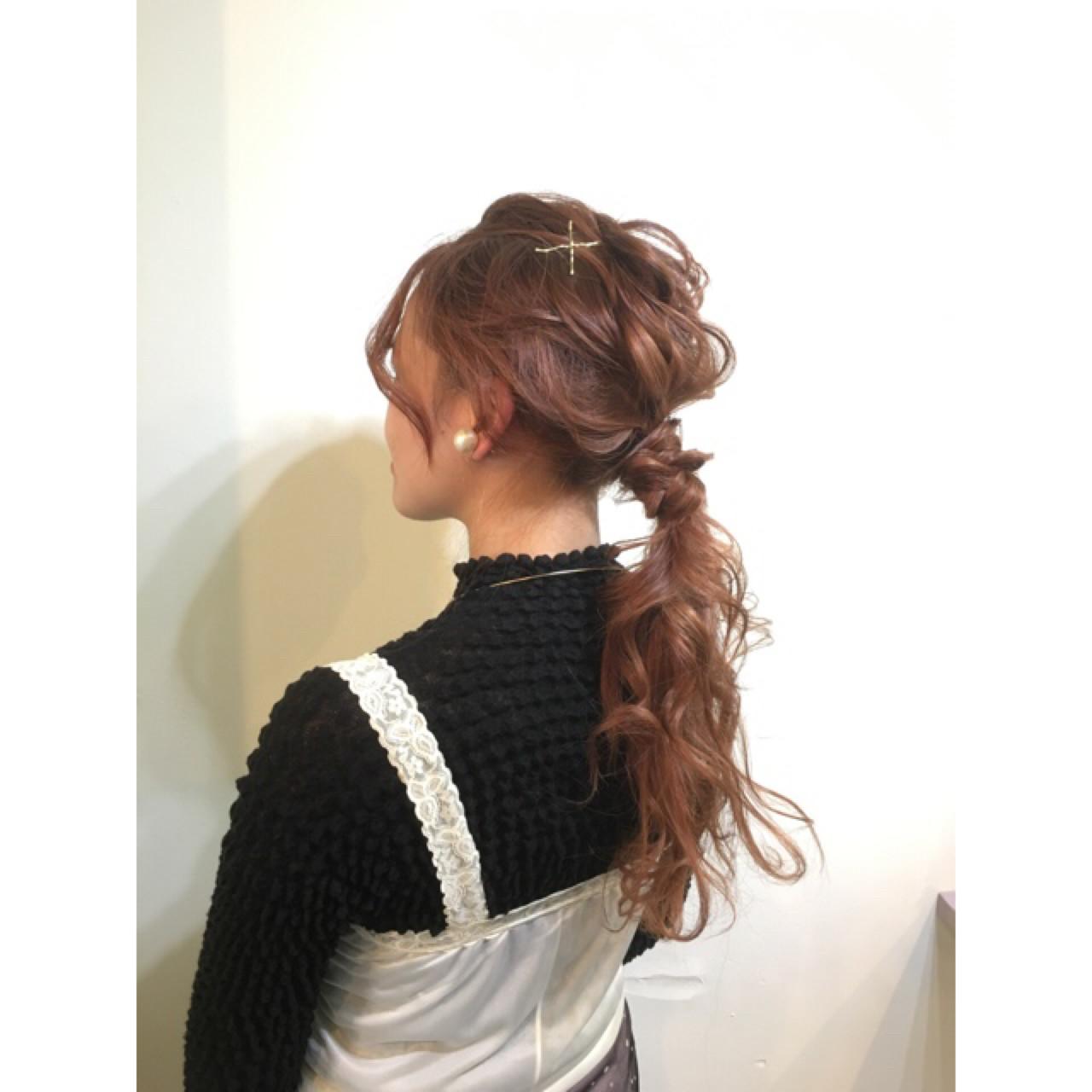 ミディアム ショート 大人かわいい ポニーテール ヘアスタイルや髪型の写真・画像 | COM PASS 太一 / COM PASS