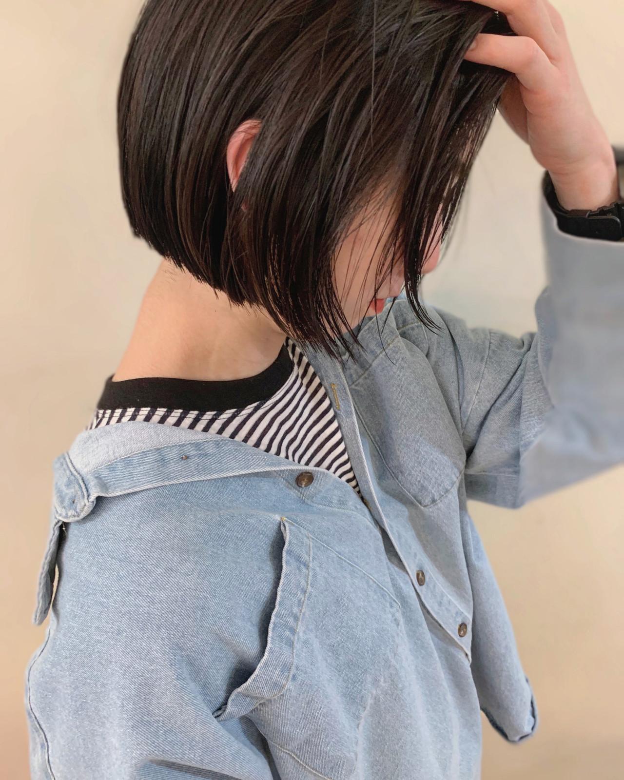 スポーツ 大人かわいい ボブ デート ヘアスタイルや髪型の写真・画像 | yumiko/sapporoSKNOW / SKNOW