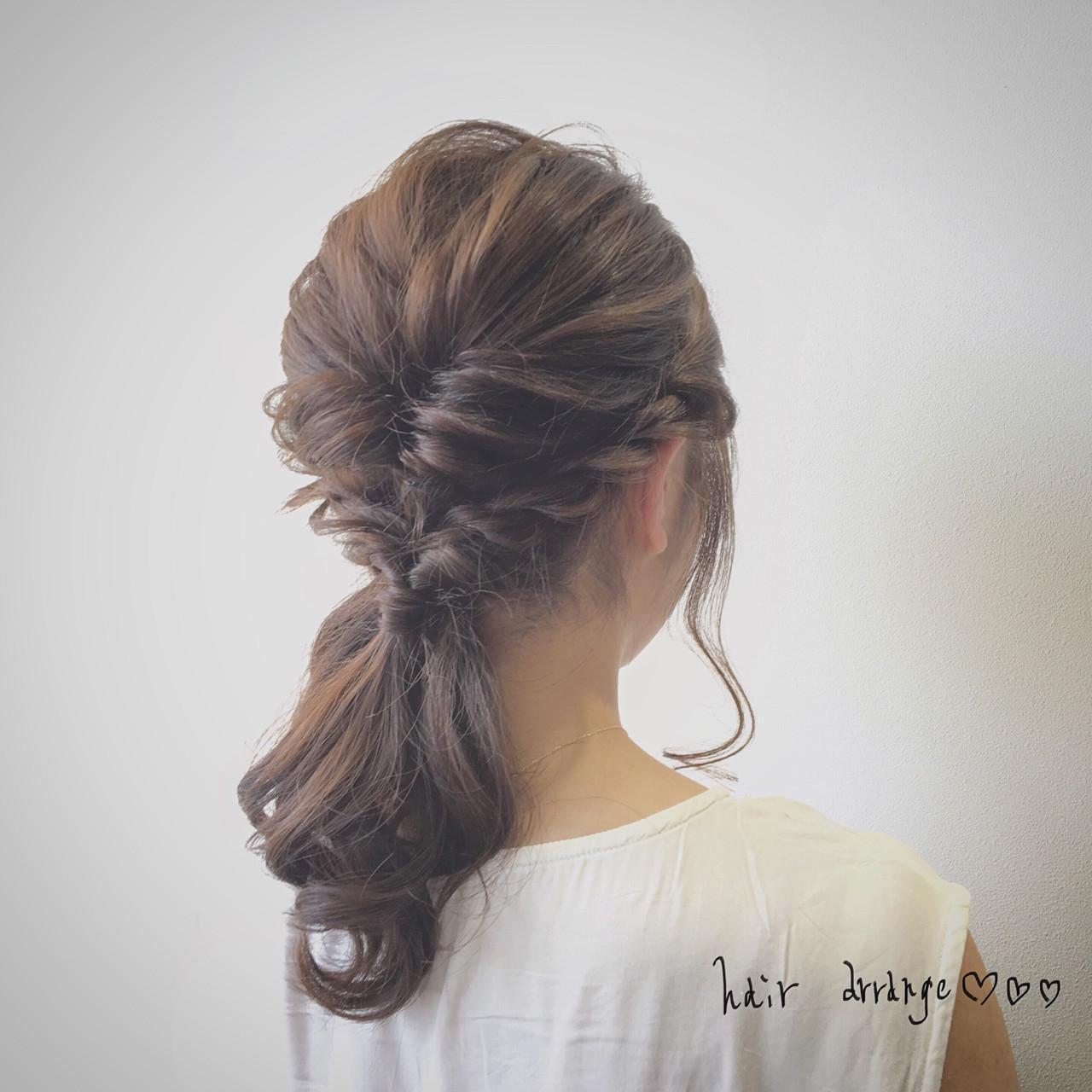 ロング ショート 簡単ヘアアレンジ 大人かわいいヘアスタイルや髪型の写真・画像