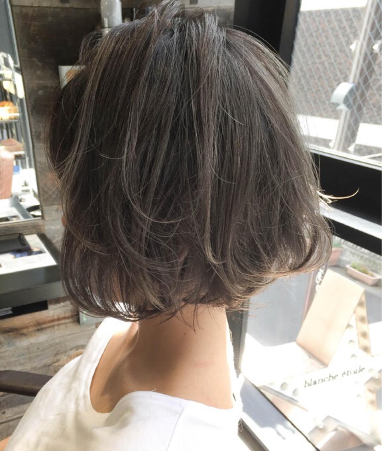 アッシュ ストリート 外国人風 ハイライトヘアスタイルや髪型の写真・画像