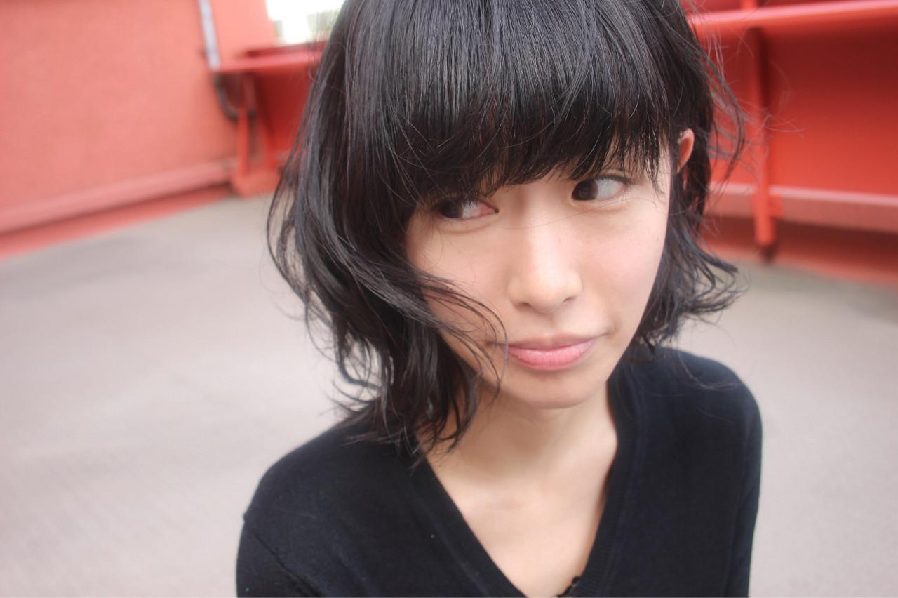 アンニュイ ウェーブ 冬 パーマ ヘアスタイルや髪型の写真・画像 | 長井美菜 / Carlm