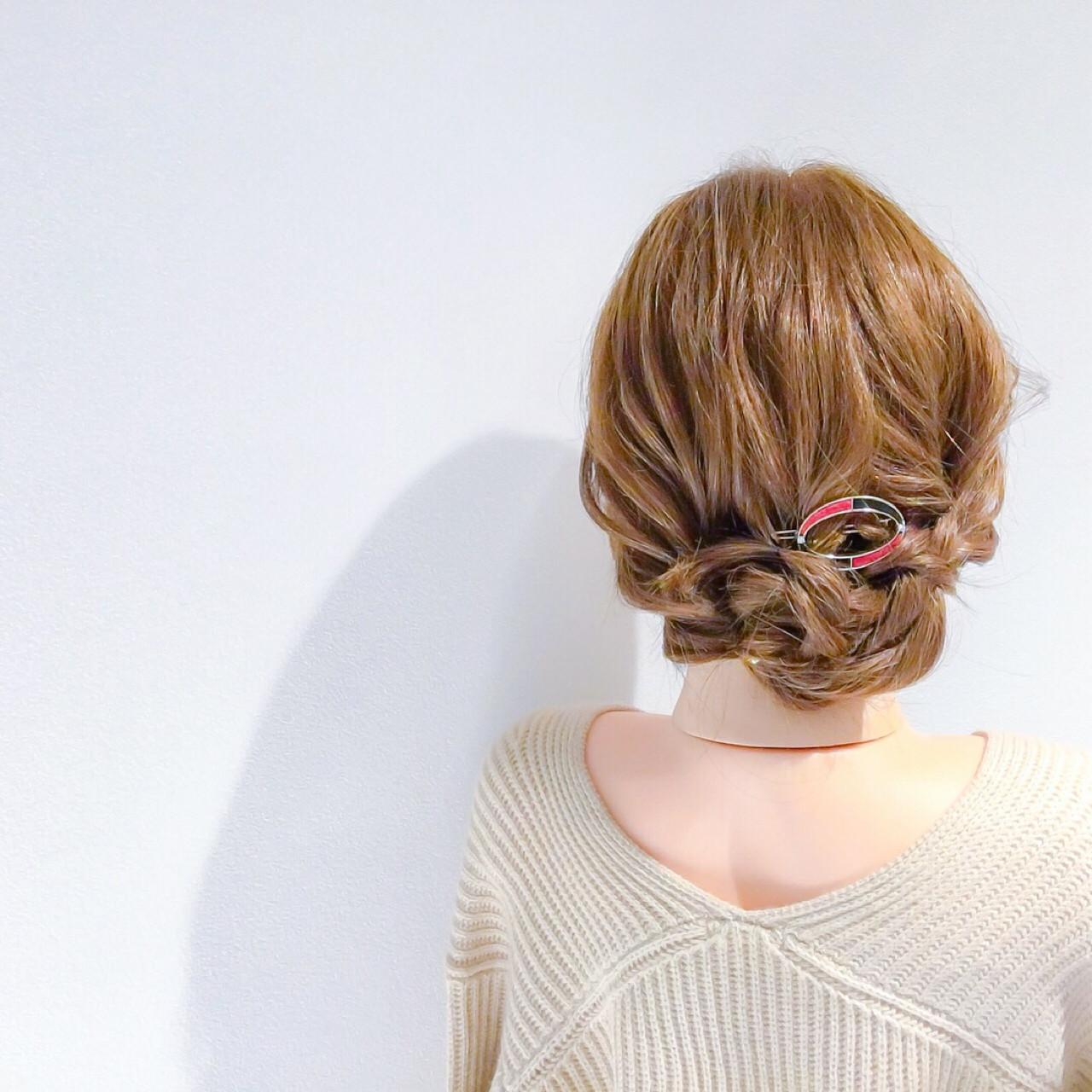 上品 エレガント ヘアアレンジ 簡単ヘアアレンジ ヘアスタイルや髪型の写真・画像 | 美容師HIRO/Amoute代表 / Amoute/アムティ