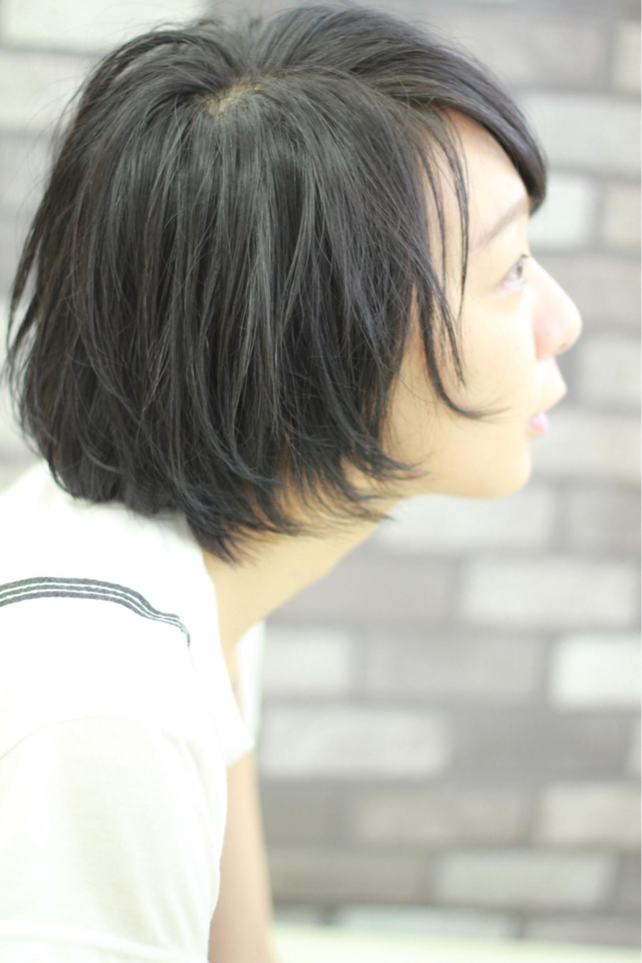 ナチュラル ショートボブ モード 大人女子 ヘアスタイルや髪型の写真・画像 | 大和田 誠 / Anphi 弘明寺