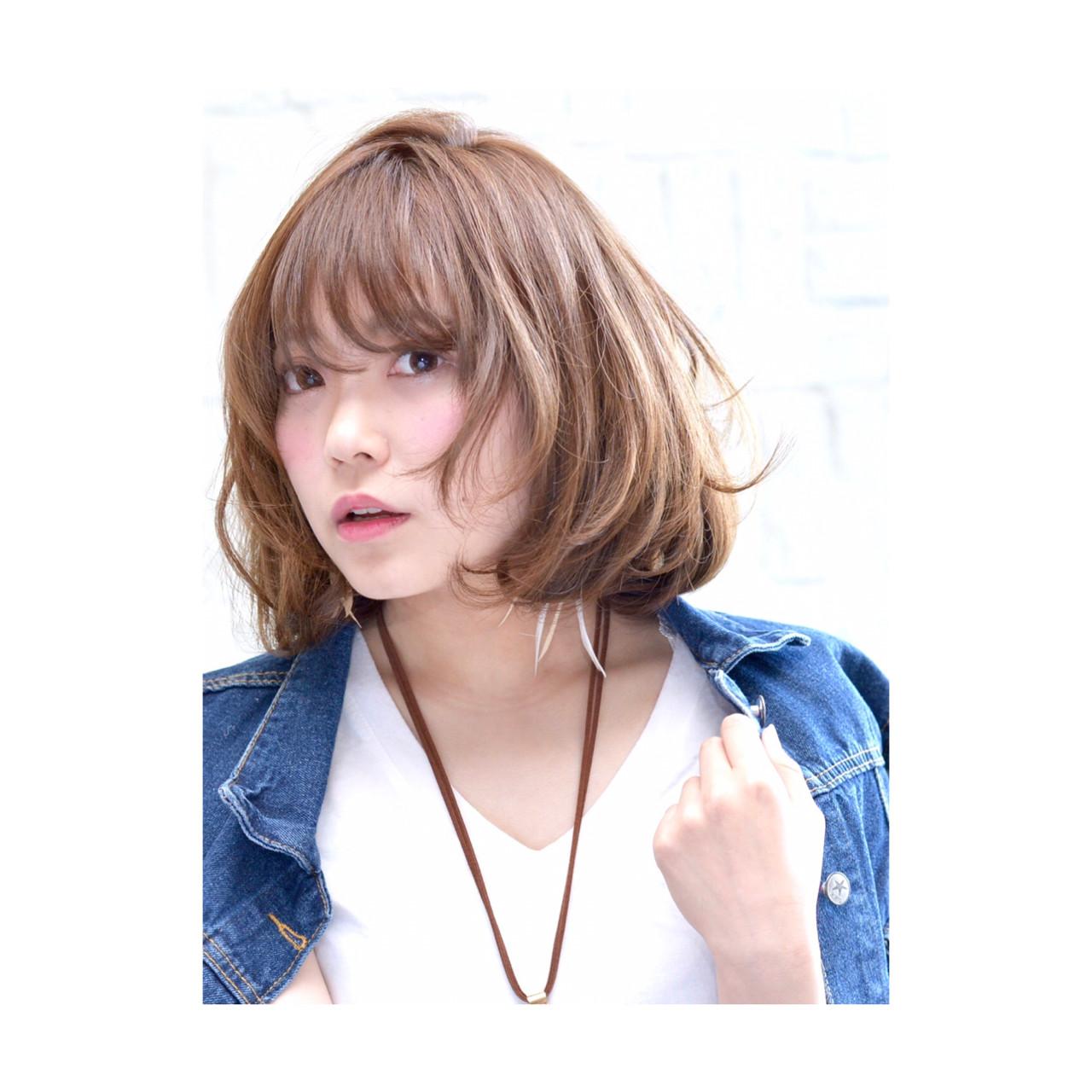 ストリート ゆるふわ ボブ 大人かわいい ヘアスタイルや髪型の写真・画像 | 中野 裕介/jap international / JAP international Ssalon