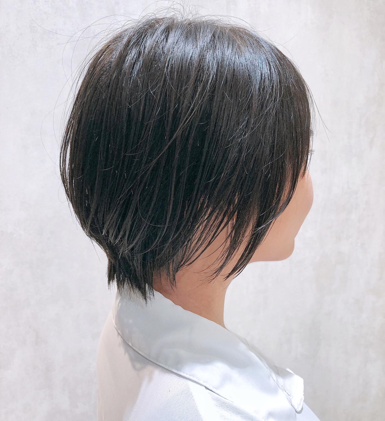 ミニボブ ナチュラル ショートヘア ショートボブ ヘアスタイルや髪型の写真・画像 | 金田 尚之 / k-two  青山