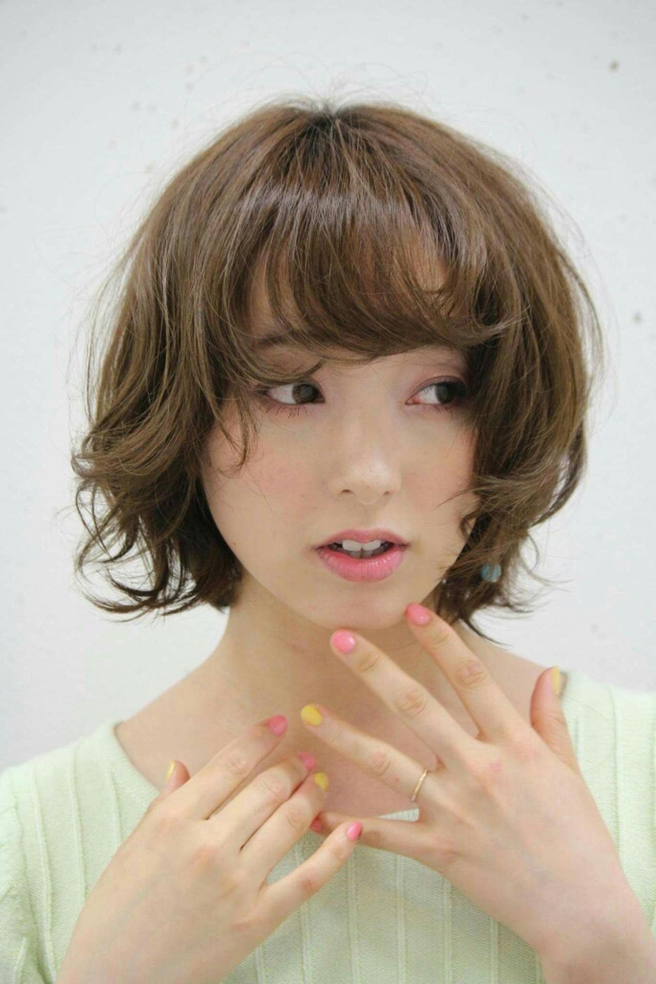 レイヤーカット パーマ ゆるふわ モテ髪 ヘアスタイルや髪型の写真・画像 | asuka /