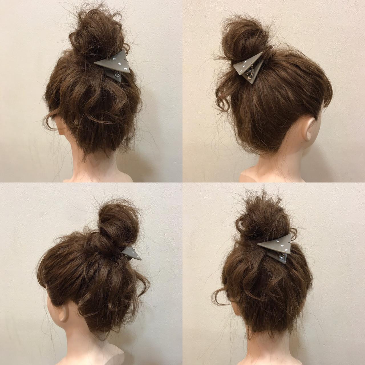 お団子 ミディアム 波ウェーブ ヘアアレンジ ヘアスタイルや髪型の写真・画像 | 石井美那 / BERA g hair