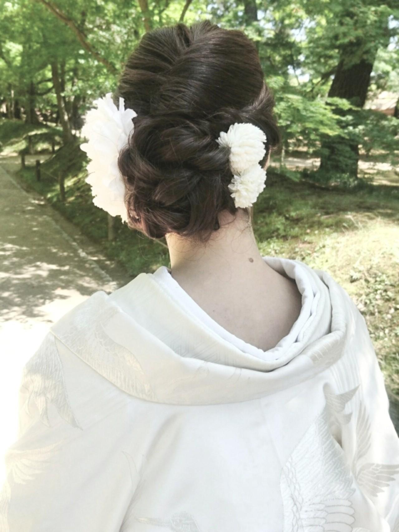 エレガント ロング 上品 ヘアアレンジ ヘアスタイルや髪型の写真・画像 | 島田 和也 / total beauty house flap MICHI