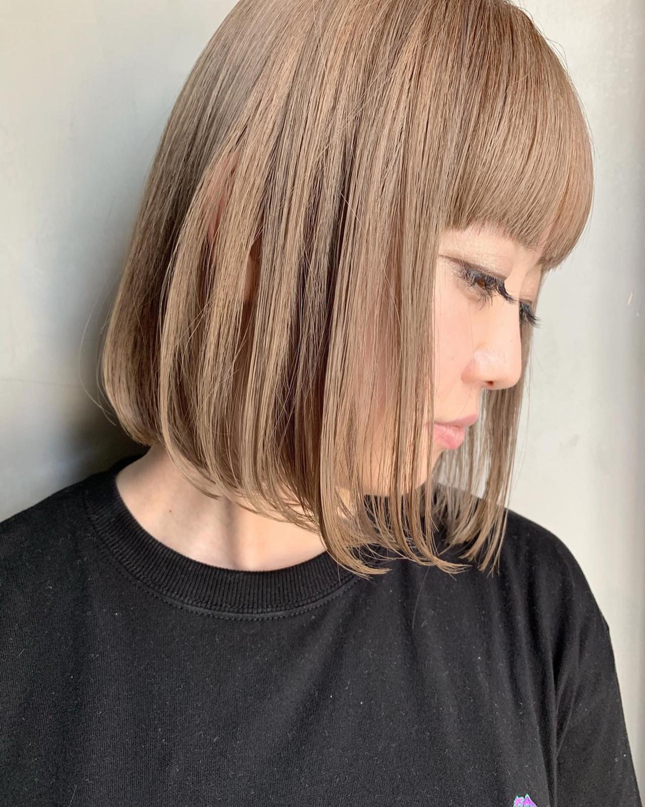 ミルクティーグレージュ ホワイトベージュ ミルクティーベージュ ミルクティー ヘアスタイルや髪型の写真・画像 | miya/@1031miya / フリーランス(XENA)