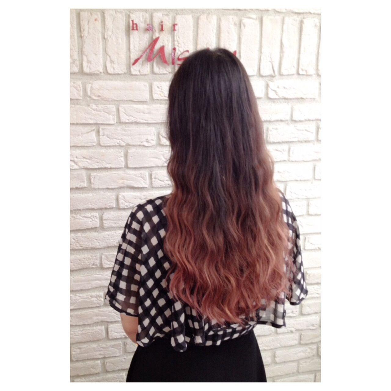 カラートリートメント ピンク グラデーションカラー ストリート ヘアスタイルや髪型の写真・画像 | 斉藤 友美 / hair Mission
